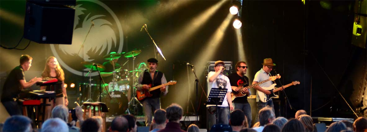 Dub Invaders on Stage beim Hahnspektakel 2015